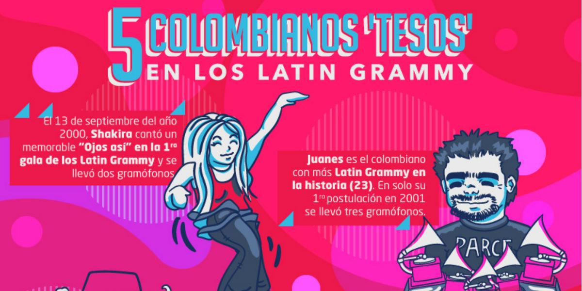 historia de los colombianos en los latin grammy
