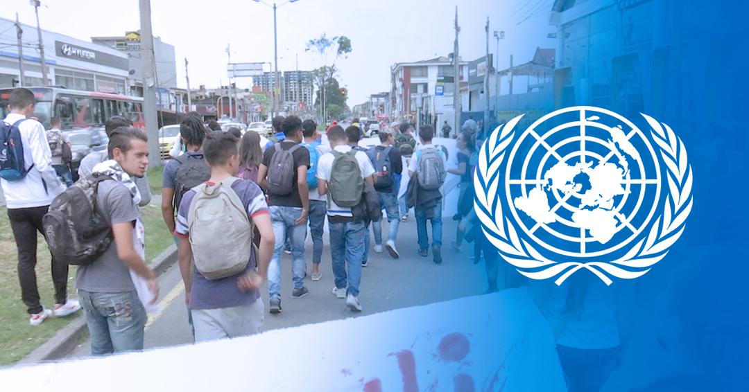 ONU exhorta a que se respeten los derechos durante protestas en Colombia