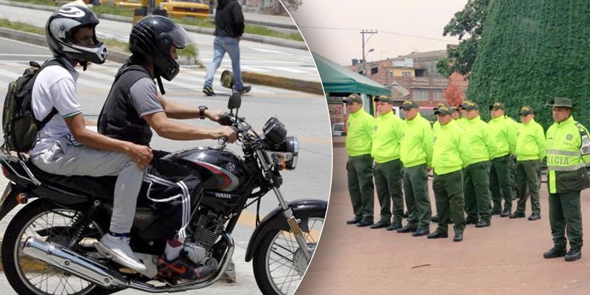 Restringen parrillero en moto durante Plan Navidad en Soacha