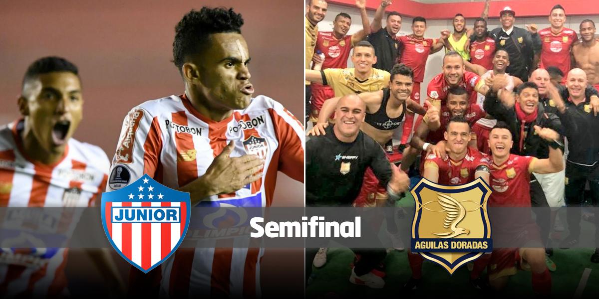 Junior y Rionegro sorprenden de visitantes y son semifinalistas de Liga Águila II