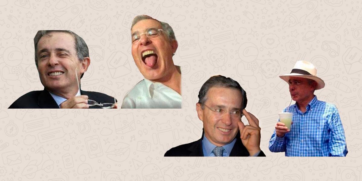 Los Stickers de Uribe que son la nueva sensación en WhatsApp