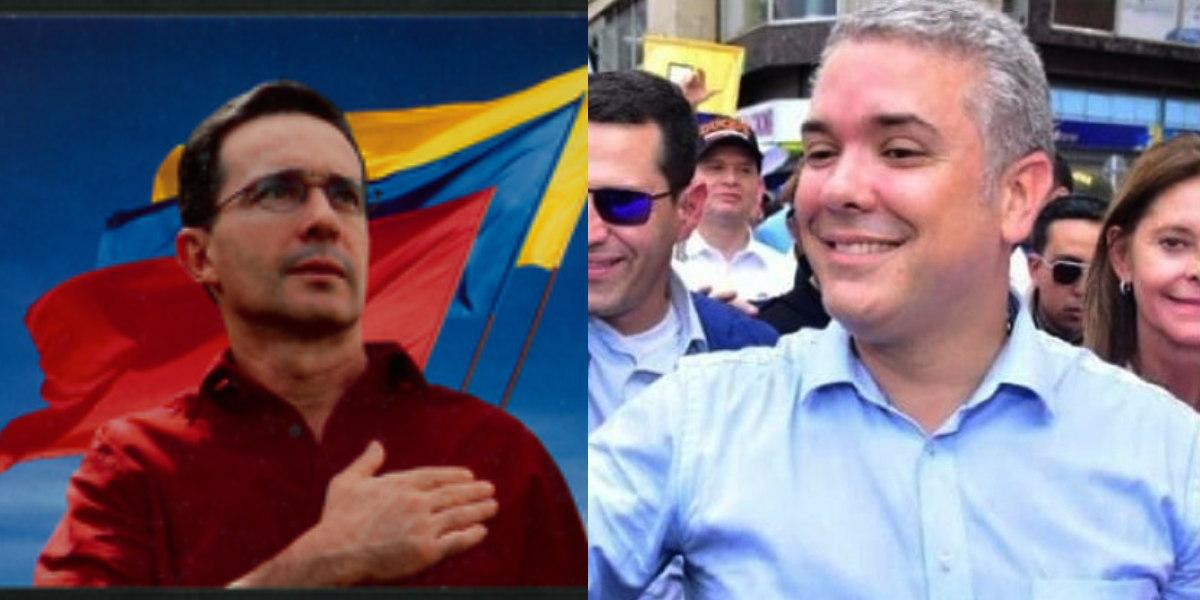 Fuertes críticas a Iván Duque por publicar una foto en donde «imita» a Álvaro Uribe