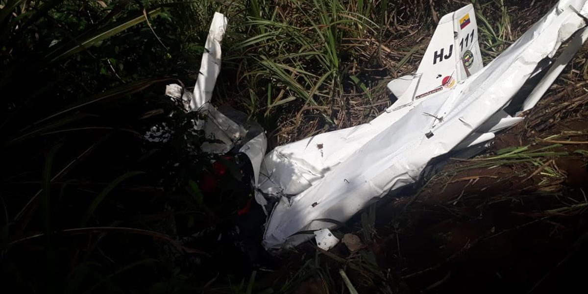 Dos tripulantes muertos en accidente aéreo en Frontino, Antioquia