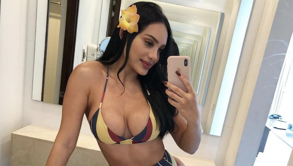 Andrea Valdiri se dio un 'porrazo' cuando intentaba lucir sexy en un video