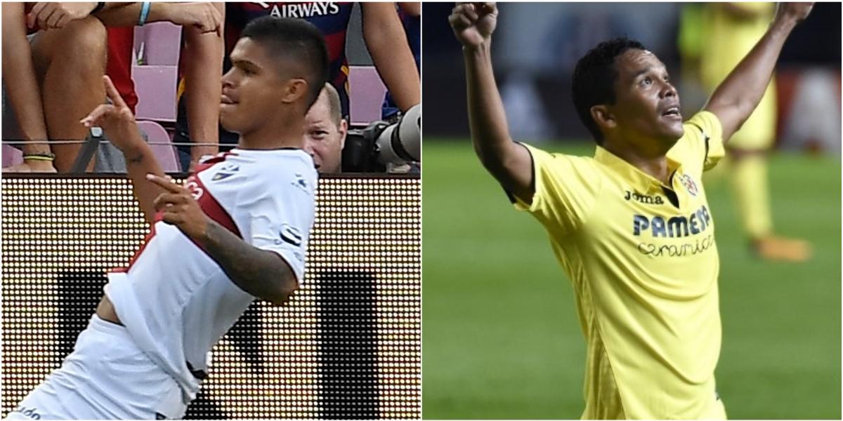 'Cucho' Hernández y Carlos Bacca marcaron gol en el empate entre Huesca y Villarreal