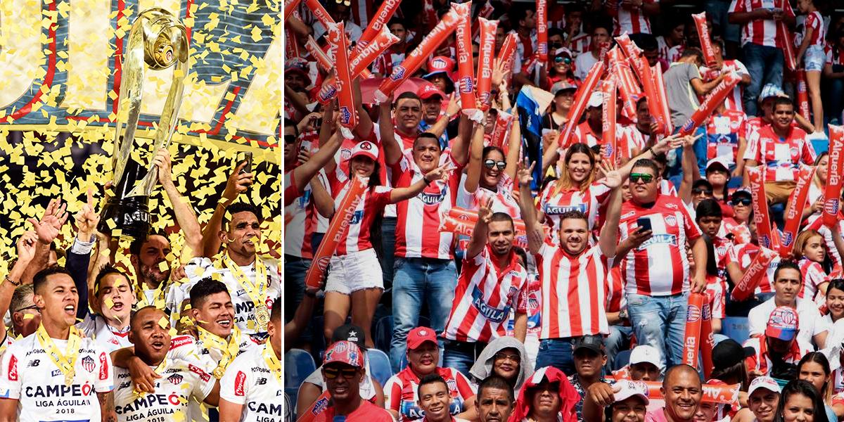 Se adelantó el carnaval: Junior festejó su título en el Metropolitano