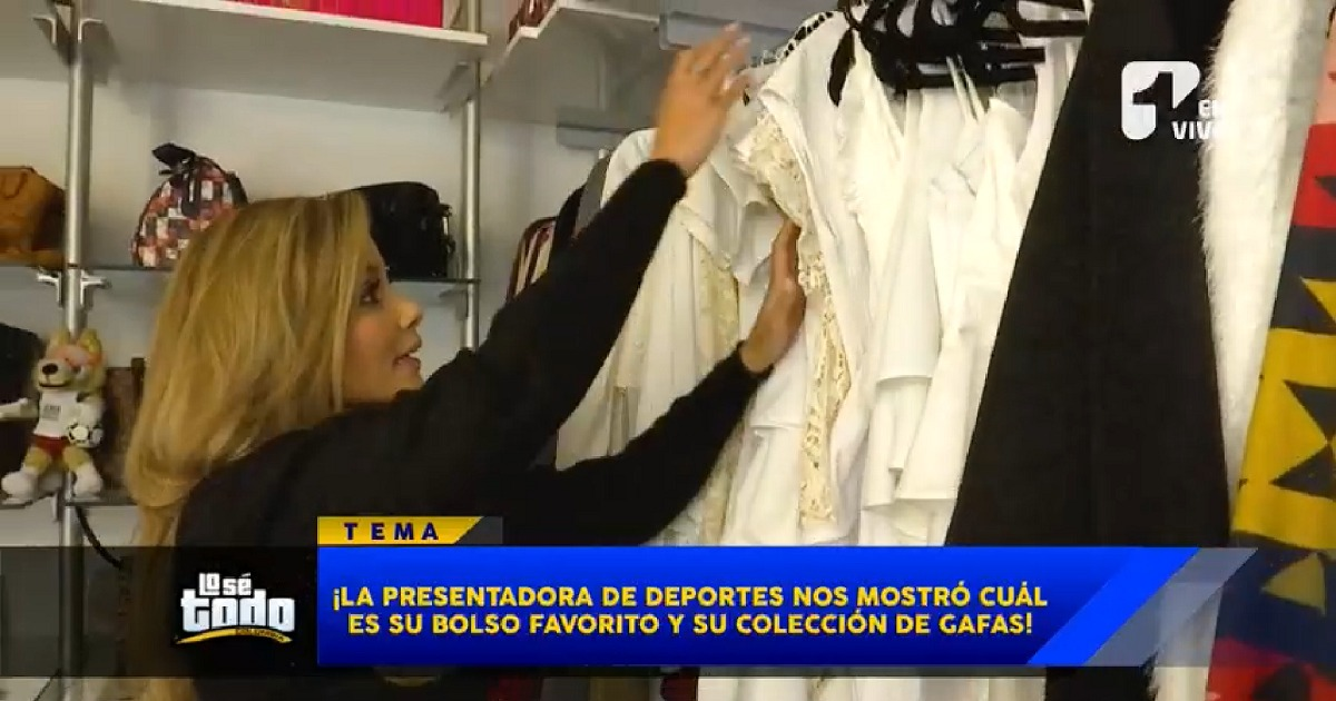 Melissa Martínez abrió su closet y mostró hasta sus más de 70 pares de zapatos