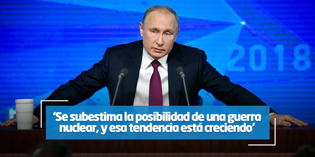 Rusia desarrollará nuevos misiles estratégicos si EE.UU. se retira del INF
