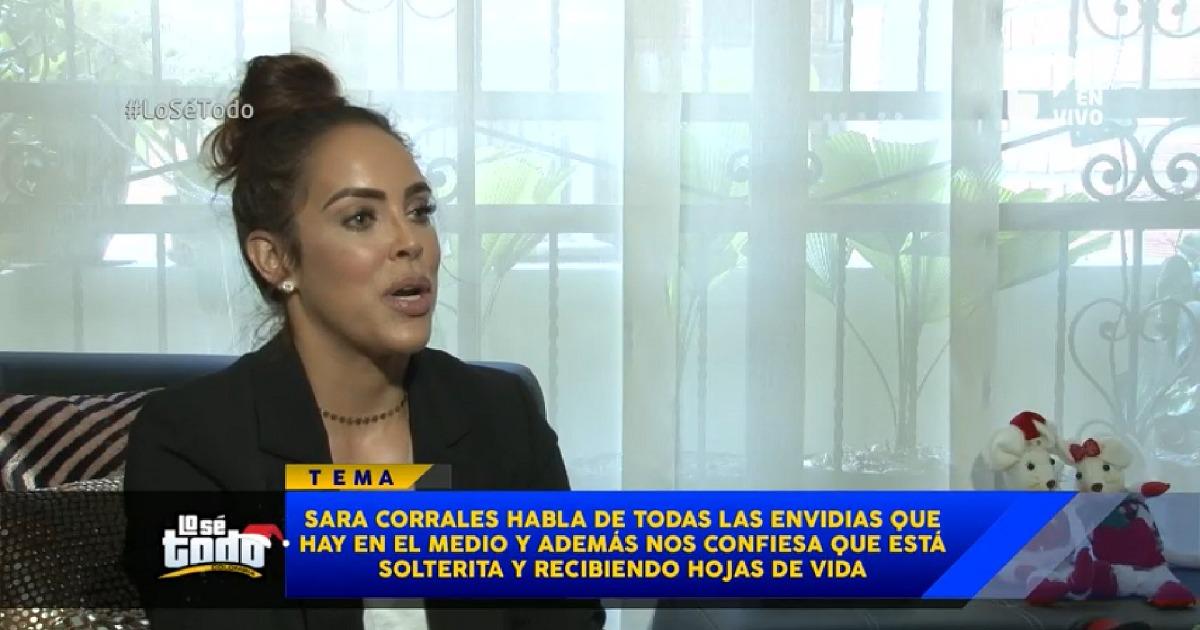 """Soy tan positiva que la envidia llega y me rebota"": Sara Corrales"