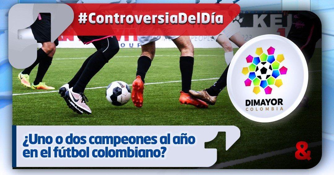¿Uno o dos campeones al año en el fútbol colombiano?
