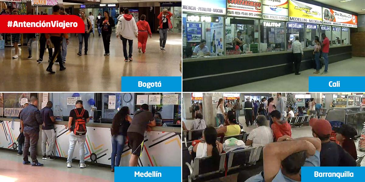 Atención viajero: este es el estado de los principales terminales terrestres del país