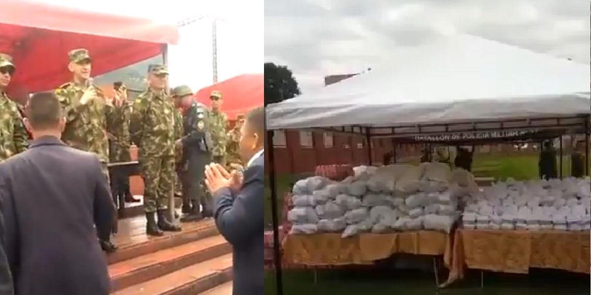 Por esta vergonzosa ceremonia de despedida el Ejército Nacional es fuertemente criticado