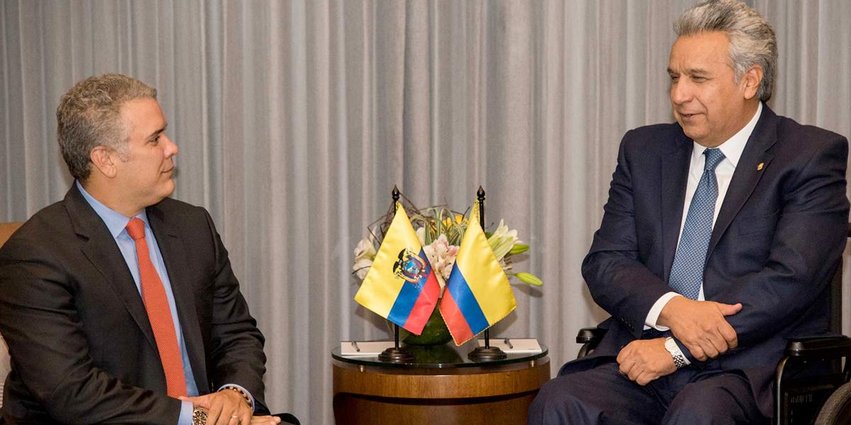 Fortalecer relaciones binacionales, propósito de la visita del pdte. Duque a Ecuador