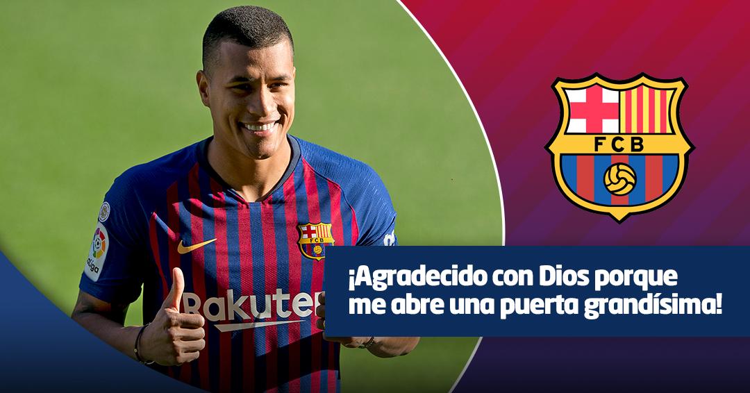 Jeison Murillo ya fue presentado como nuevo jugador del Barcelona