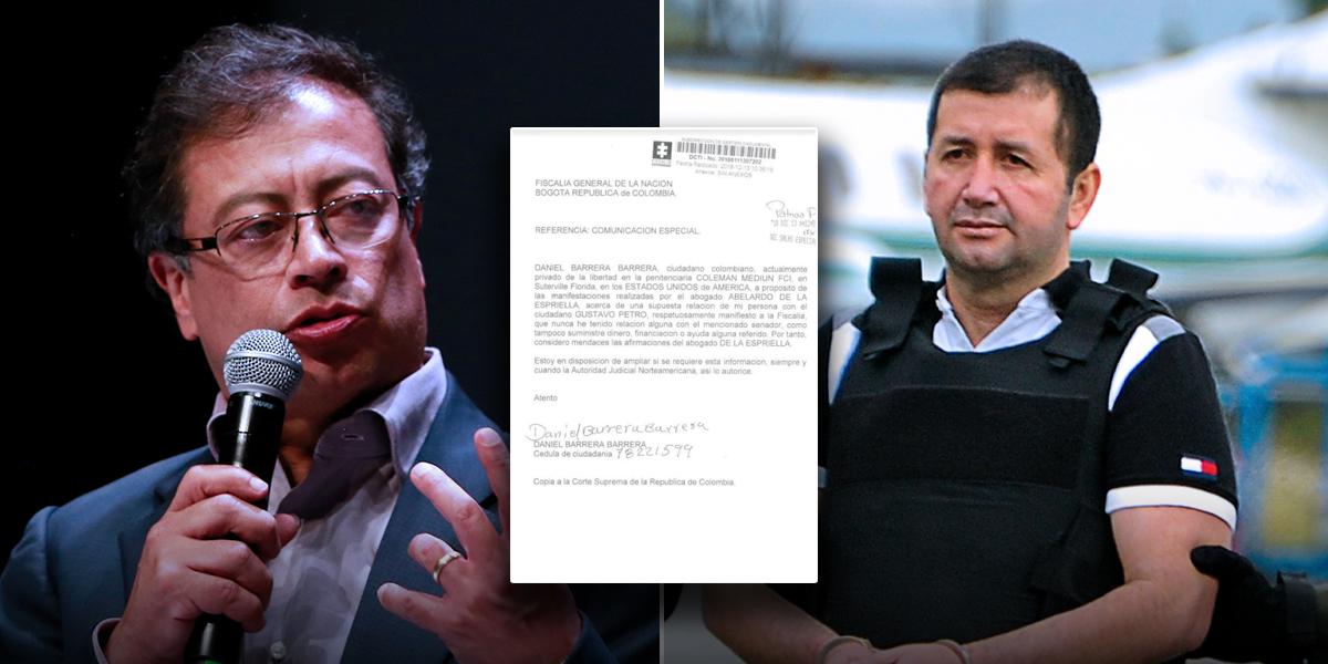 'El Loco' Barrera niega haber suministrado dinero a Gustavo Petro