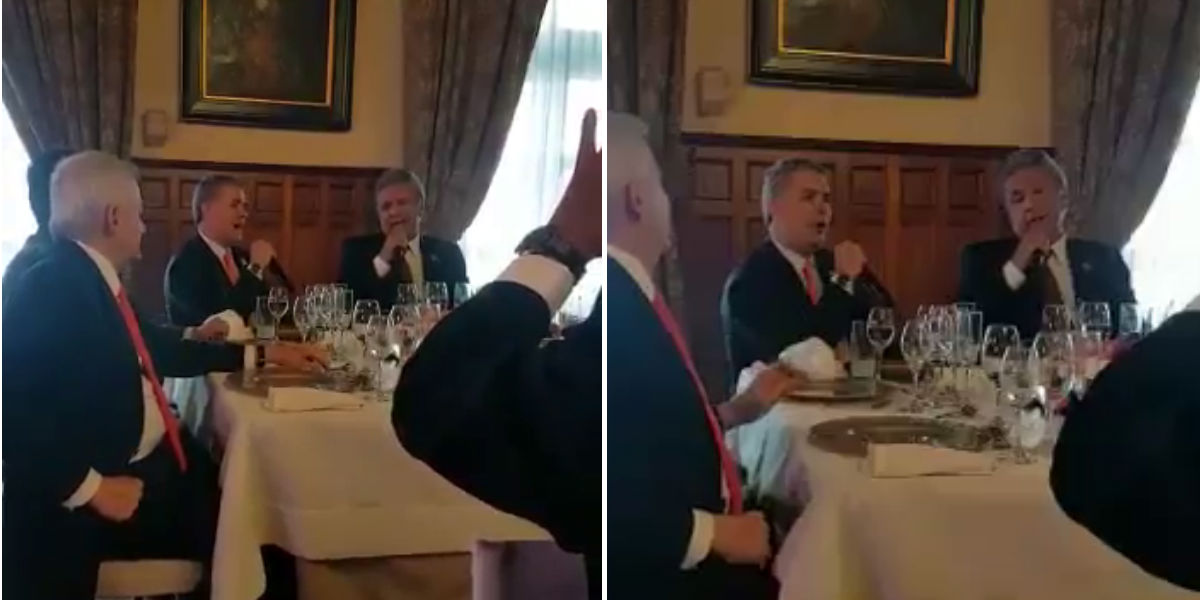 video presidente ivan duque canta con lenin moreno ecuador