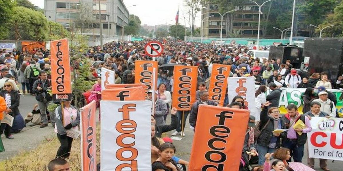 Fecode marcha por el 'derecho a la salud y rechaza asesinatos de líderes sociales'