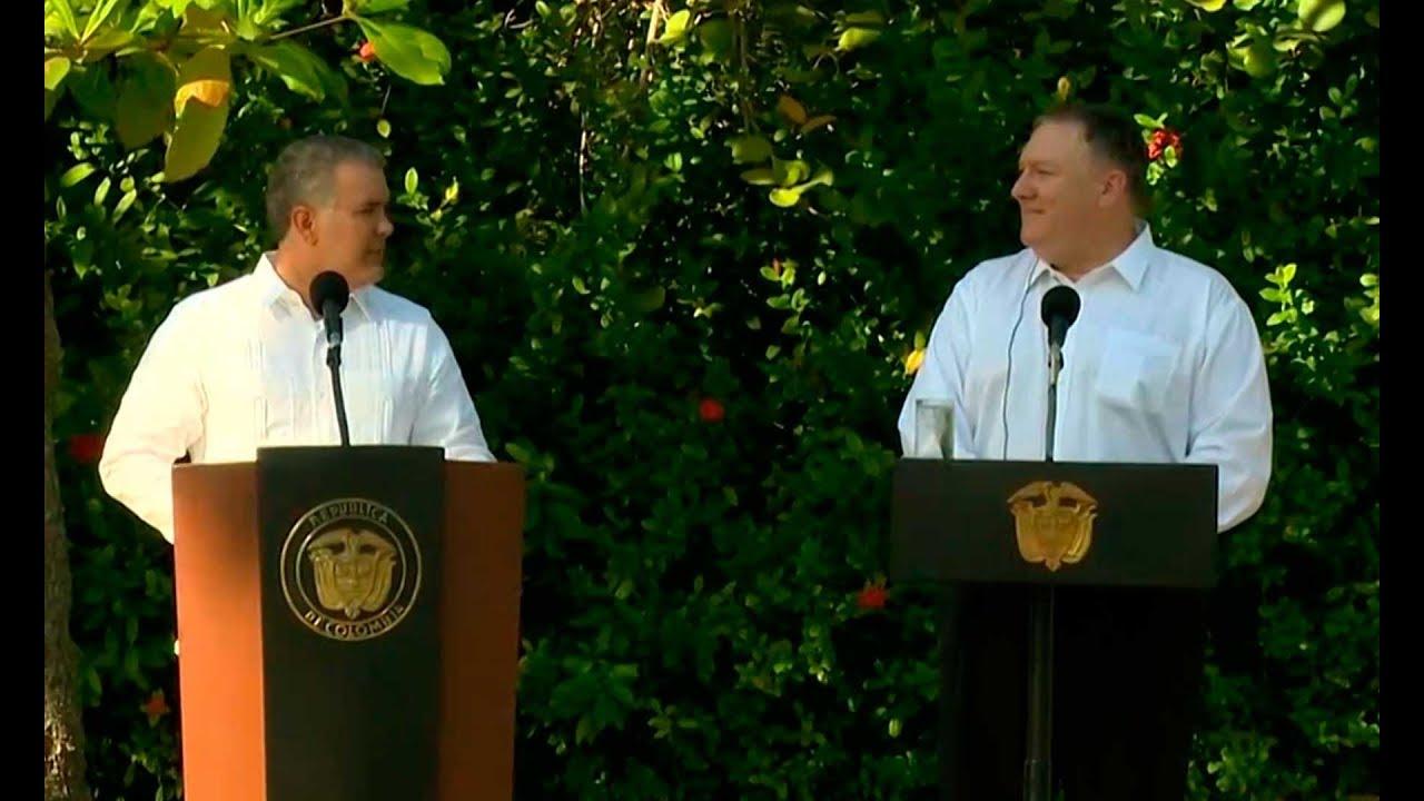 Duque y Pompeo hablaron sobre 'importancia' de reducir cultivos de coca