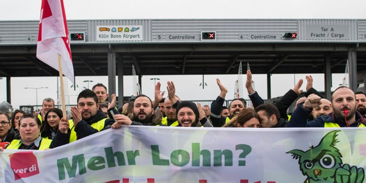 Más de 600 vuelos fueron anulados en Alemania debido a huelga en tres aeropuertos