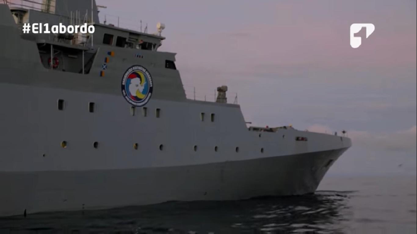 Conoce cómo es el majestuoso buque de la Armada Nacional