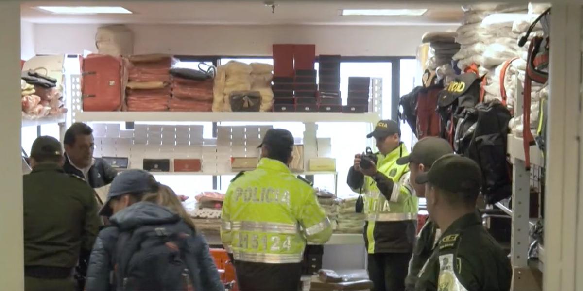 Primer gran operativo por contrabando en San Andresito de Bogotá a 63 bodegas
