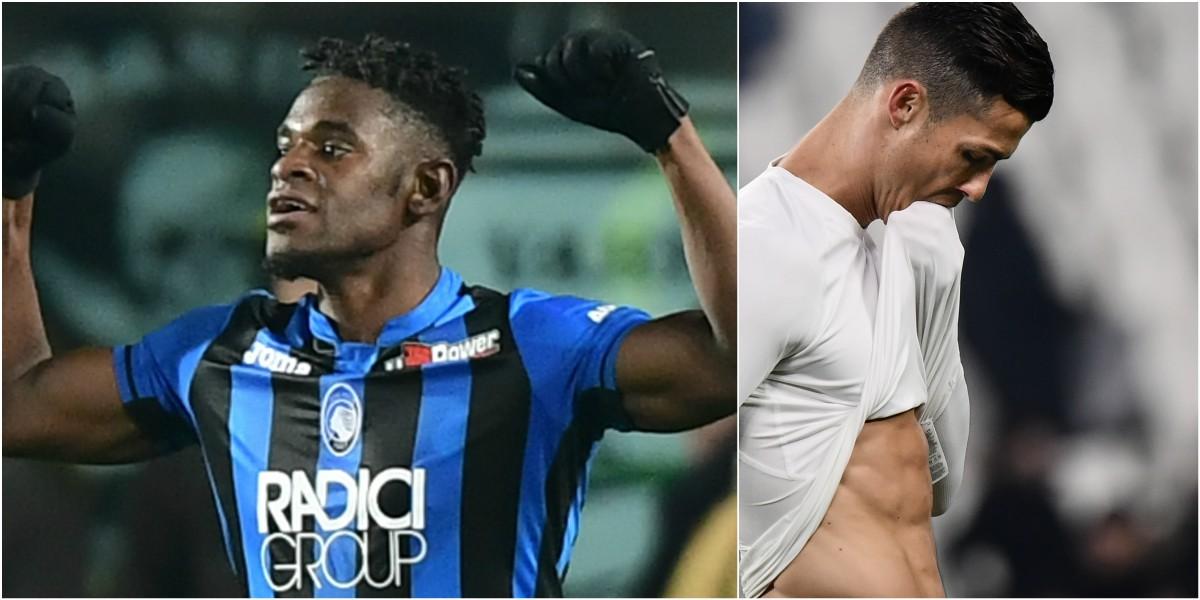 duvan zapata atalanta juventus gol cristiano ronaldo copa italia