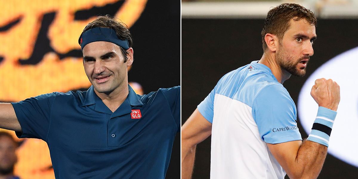 Federer y Cilic se estrenan con cómodas victorias en Abierto de Australia