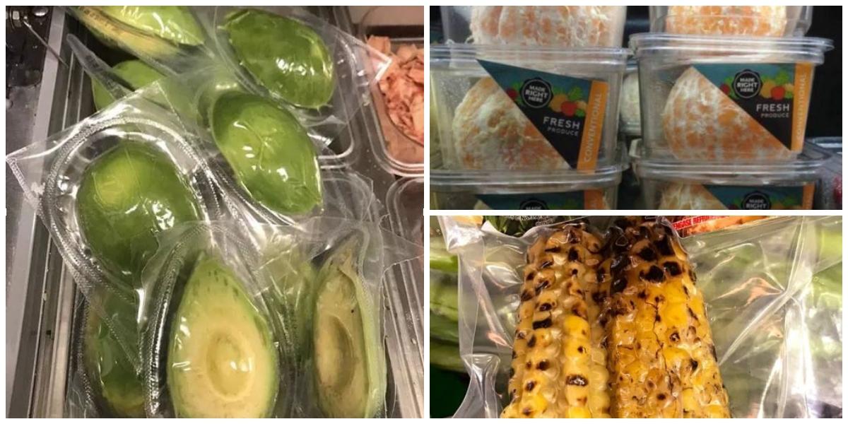 ¿Frutas y verduras empacadas con plástico? La tendencia para llamar la atención a supermercados