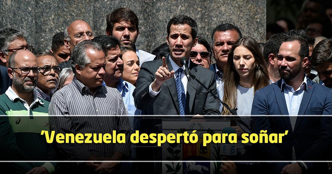 Cese de usurpación, ayuda humanitaria y elecciones libres, ruta de Guaidó en Venezuela