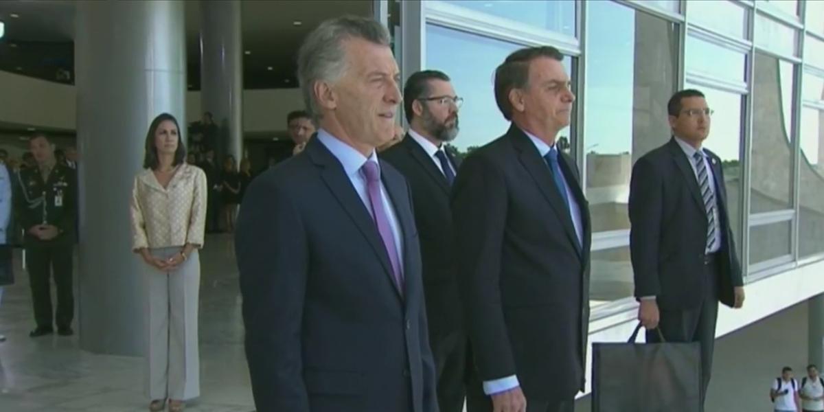 Jair Bolsonaro recibe a Macri en visita oficial con honores de Estado