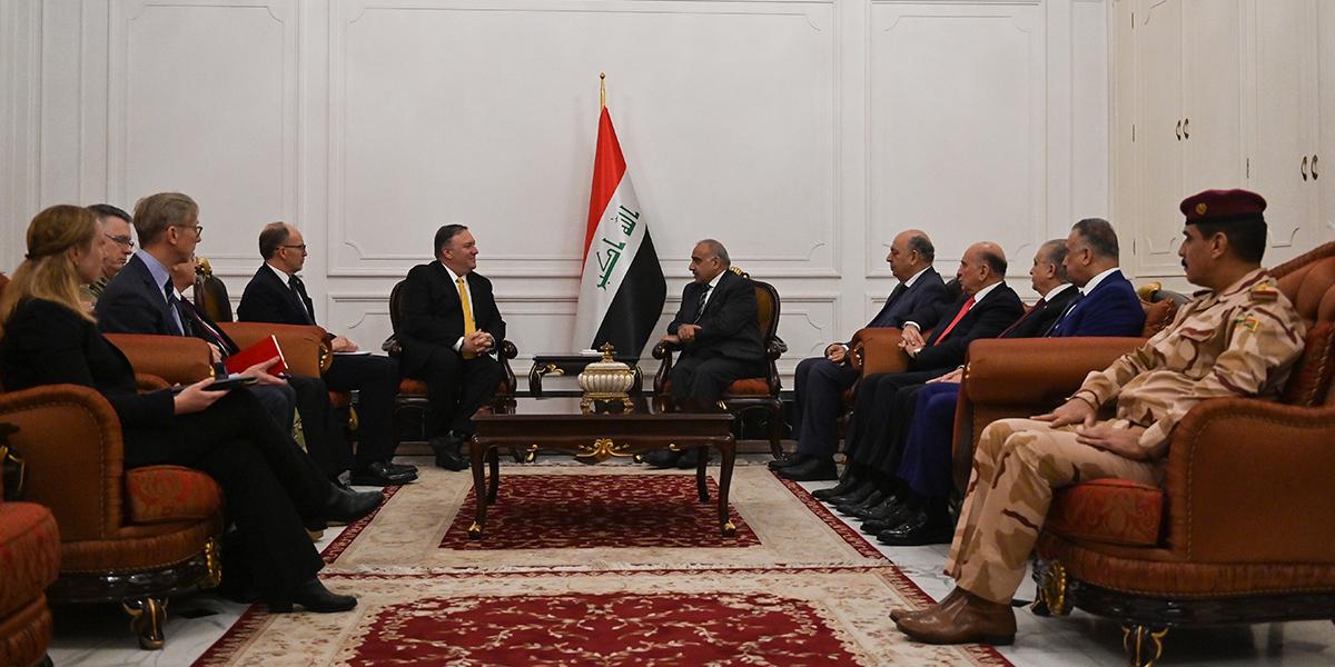 Mike Pompeo se reúne con dirigentes iraquíes en visita sorpresa a Bagdad