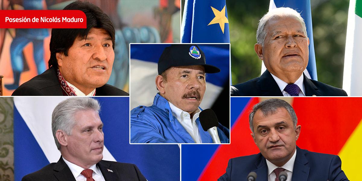 Los cinco jefes de Estado que acuden al controvertido juramento de Maduro en Venezuela