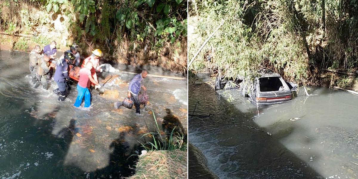 Rescatan a siete personas en el río Quilichao tras accidente vial