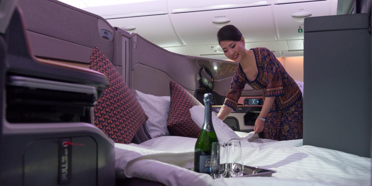 Pagó por la mejor aerolínea del mundo, pero encontró una desagradable sorpresa en su comida