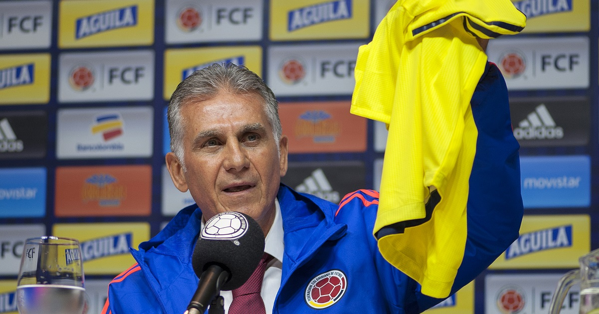 Queiroz se estrenará con Colombia en amistosos ante Corea del Sur y Japón