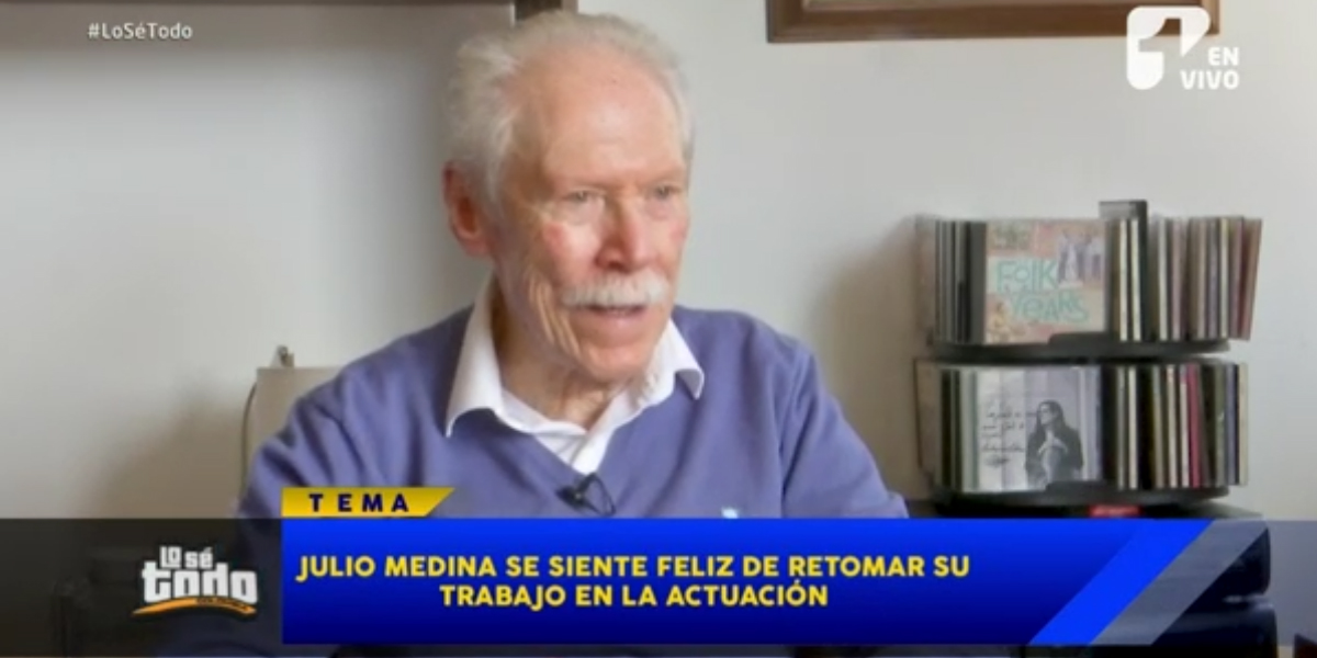 Julio Medina se siente contento de regresar a la televisión