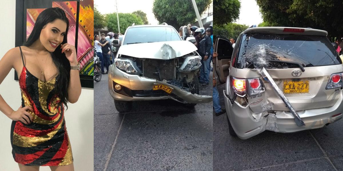 La cantante de vallenato, Ana del Castillo, sufrió un fuerte accidente