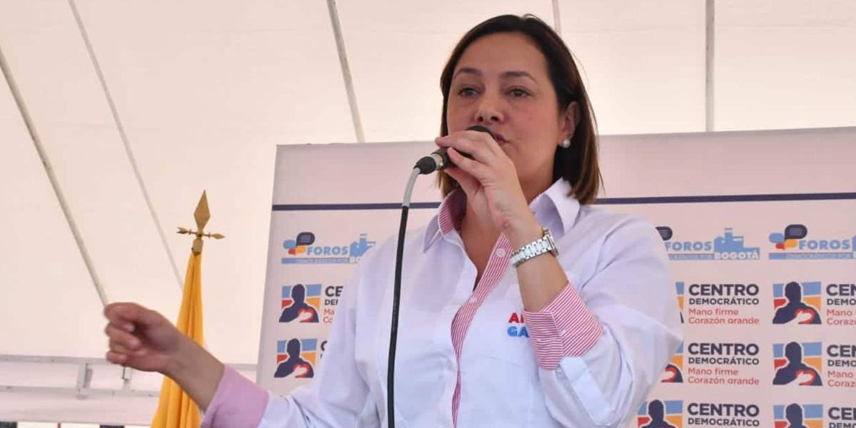 Ángela Garzón, candidata del uribismo a Alcaldía de Bogotá
