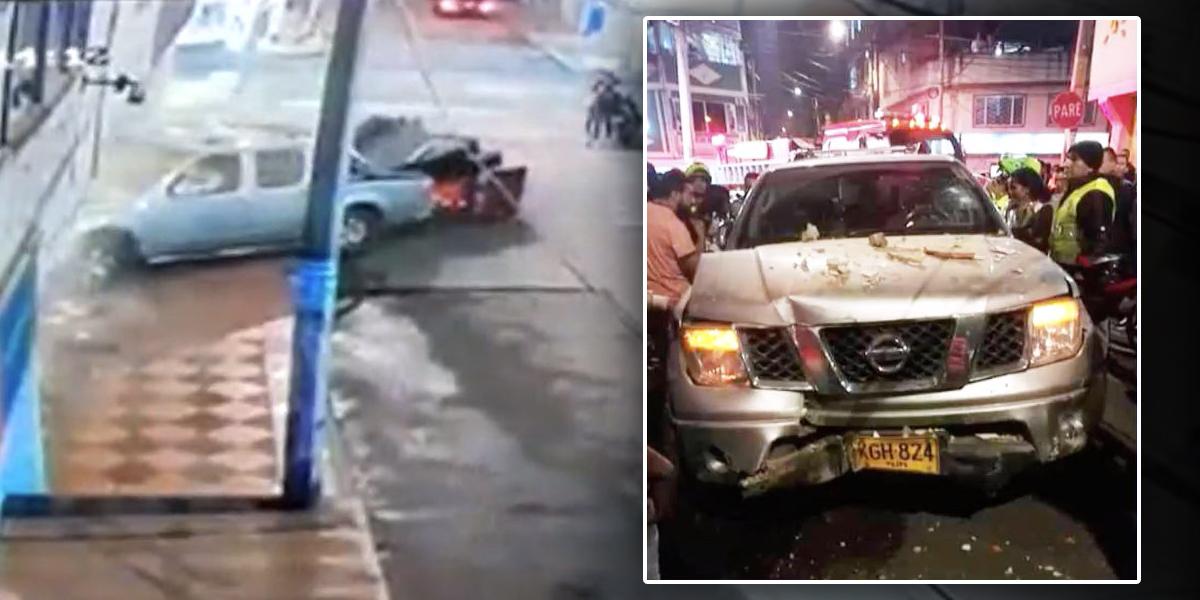 Un ebrio al volante mató a un peatón y terminó dentro de una vivienda del barrio Rincón en Suba
