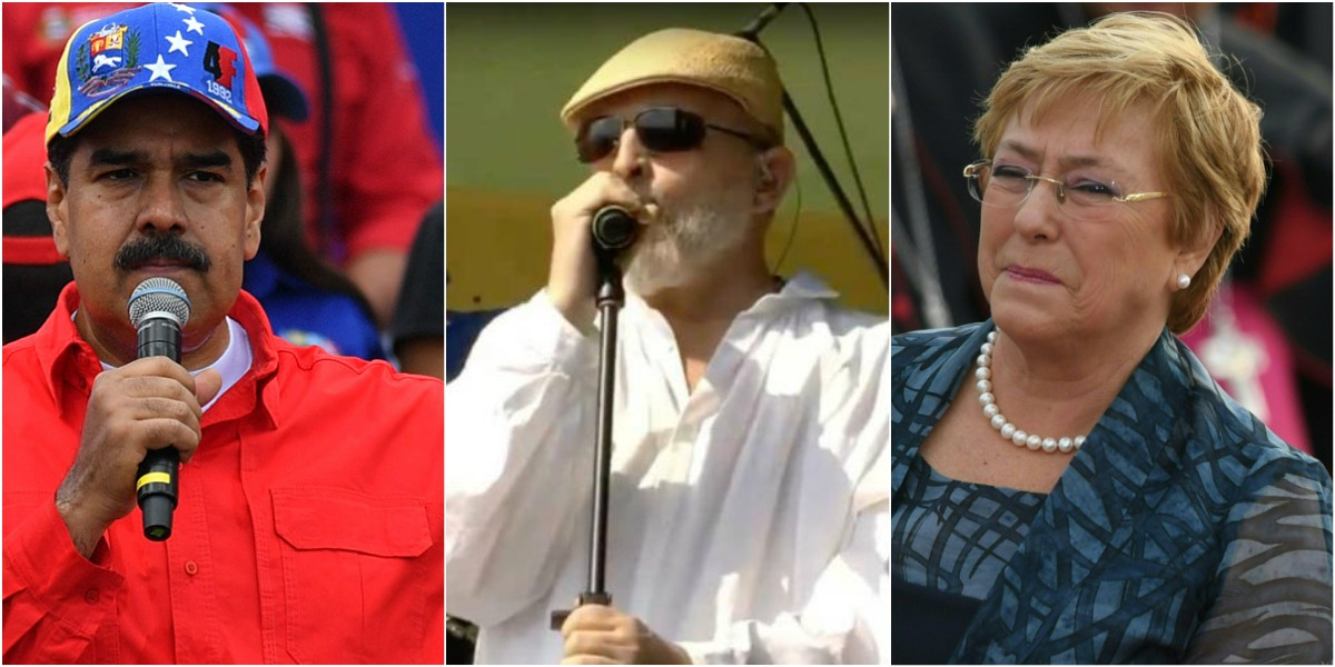 criticas de miguel bose venezuela aid live bachelet maduro