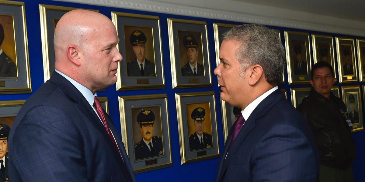 Pdte. Duque se reúne con fiscal de EE.UU. para revisar acciones del Grupo de Lima