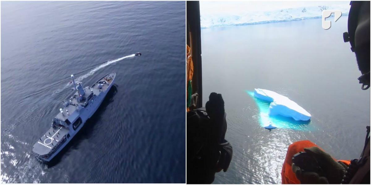helicoptero armada nacional paisajes antartida