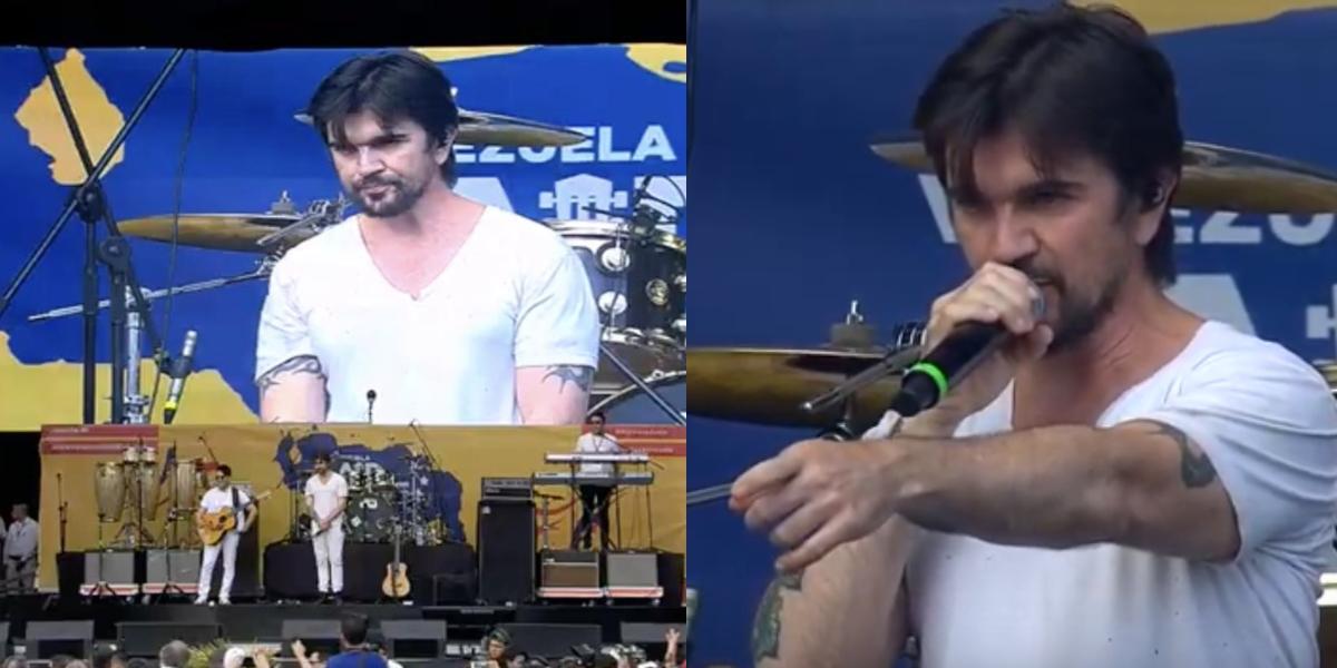 Un Juanes molesto interrumpió su presentación del 'Venezuela Aid Live'