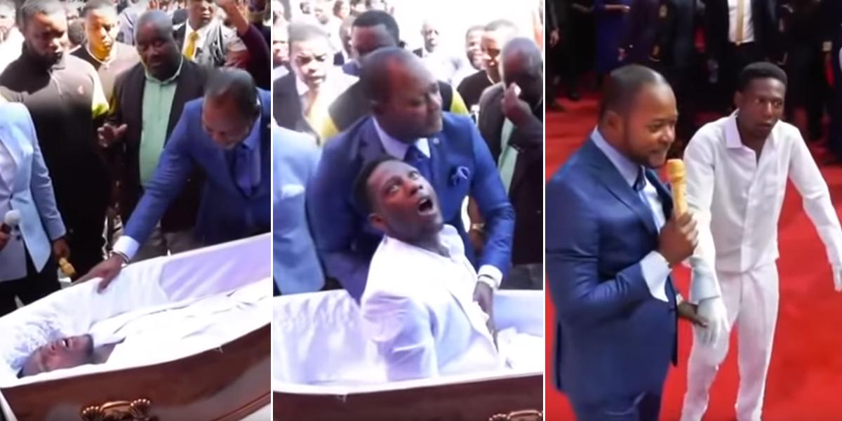 Pastor 'revivió' a un hombre ante la mirada de sus fieles en Sudáfrica