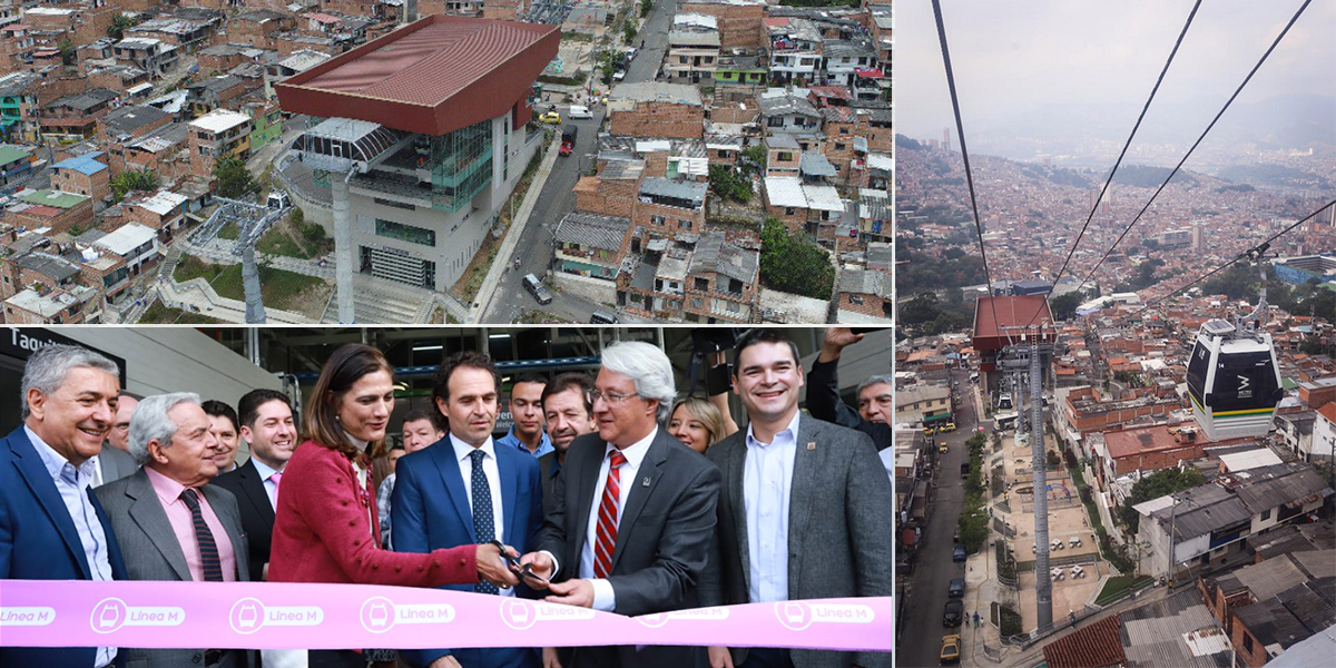 Medellín estrena su quinto Metrocable, Línea M de Miraflores