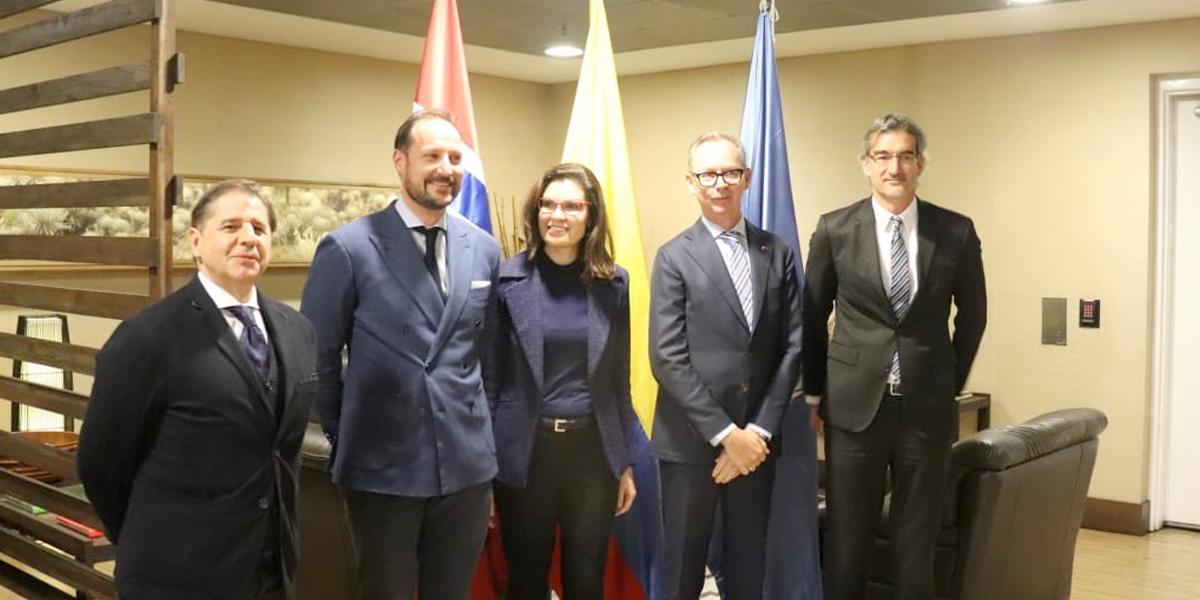 Príncipe Haakon Magnus de Noruega, llega a Colombia para hablar de desarrollo sostenible