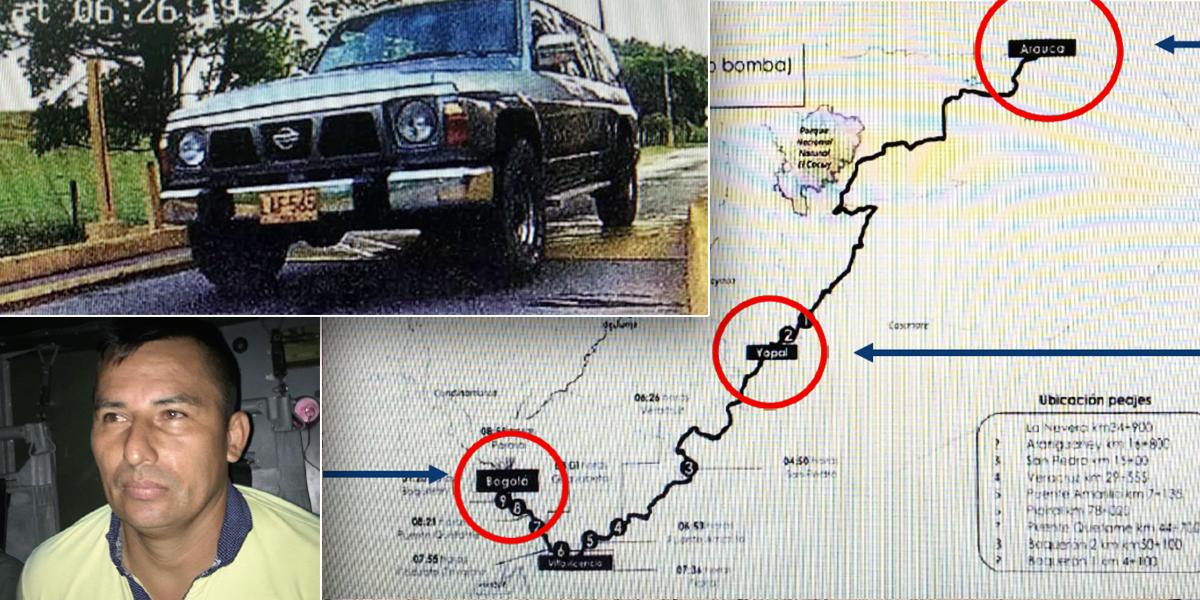 Esta fue la ruta desde Arauca hacia Bogotá de camioneta utilizada en atentado a la General Santander