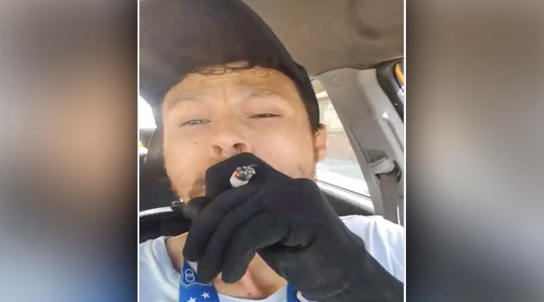Polémica por taxista que se graba fumando marihuana mientras conduce en Bosa