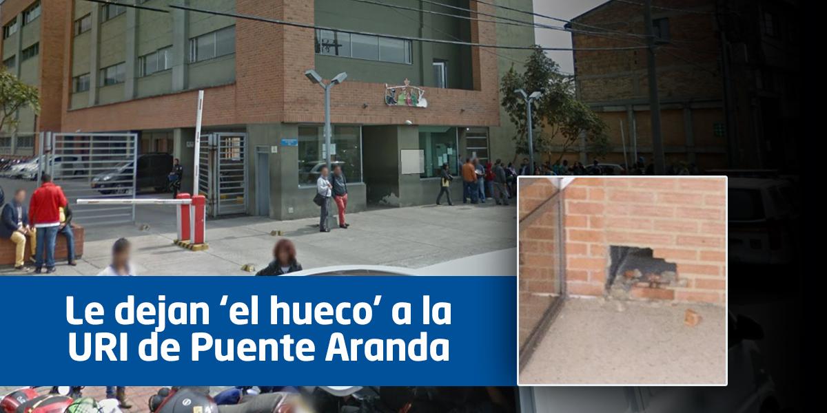 Nueve presos se fugaron de la URI de Puente Aranda en Bogotá
