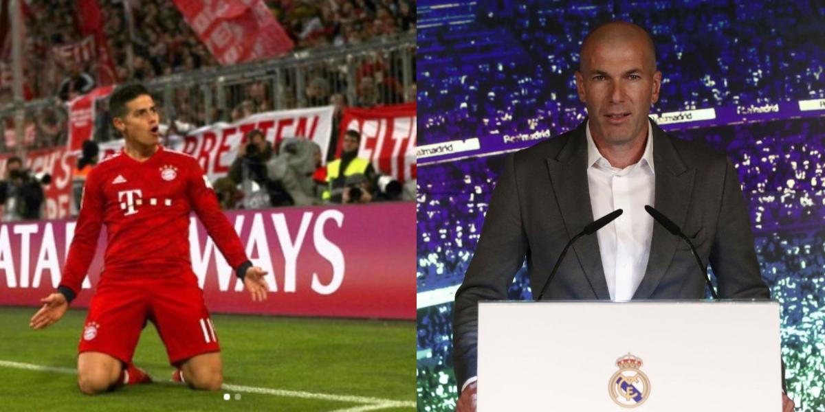 Retorno de Zinedine Zidane pone en duda el futuro de James Rodríguez